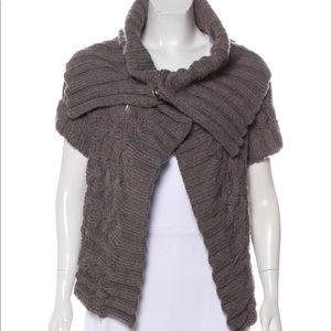Burberry gray knit cardigan